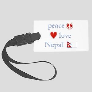 PeaceLoveNepal Large Luggage Tag