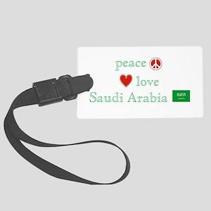 Peace Love Saudi Arabia Large Luggage Tag