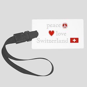 Peace Love Switzerland Large Luggage Tag