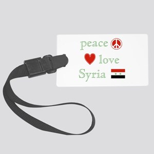 Peace Love Syria Large Luggage Tag