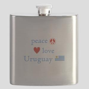 Peace Love Uruguay Flask