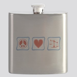 PeaceLoveLawyersSquares Flask