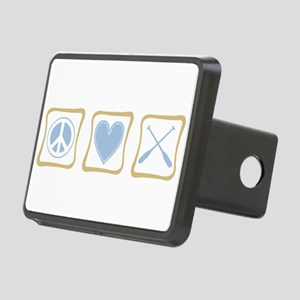 PeaceLoveRowingSquares Rectangular Hitch Cover