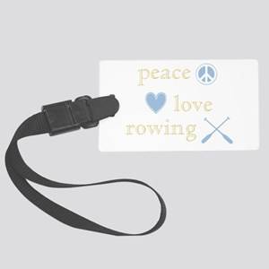 PeaceLoveRowing Large Luggage Tag
