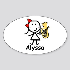 Baritone - Alyssa Oval Sticker