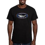 Men's Fitted Catfish Noodling T-Shirt (dark)