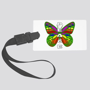 Peace Butterfly Large Luggage Tag
