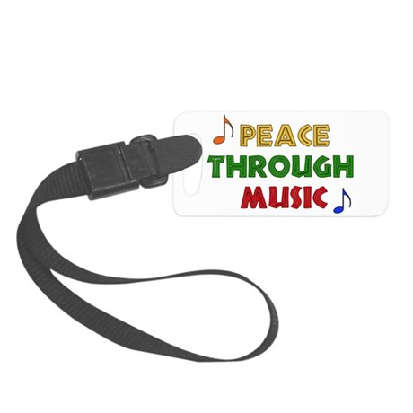 musicpeace01.png Small Luggage Tag