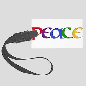 Peace Rainbow Large Luggage Tag