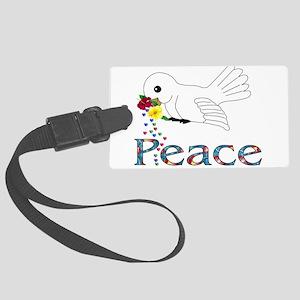 Peace Bird Large Luggage Tag