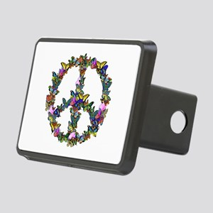 Butterflies Peace Sign Rectangular Hitch Cover