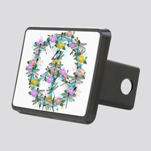 Dragonfly Peace Sign Rectangular Hitch Cover