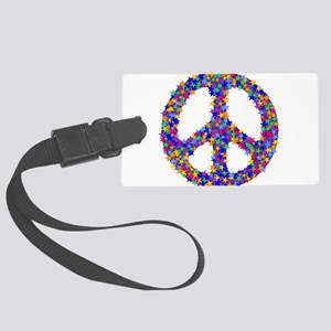 peace_sign05 Large Luggage Tag