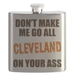 Cleveland Football Flask