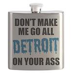 Detroit Football Flask
