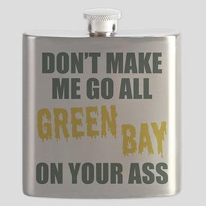 Green Bay Football Flask