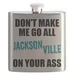 Jacksonville Football Flask