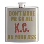 Kansas City Football Flask