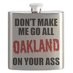 Oakland Football Flask