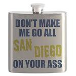 San Diego Football Flask