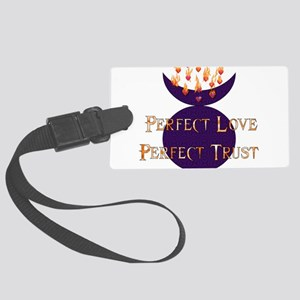 wiccan_saying03 Large Luggage Tag