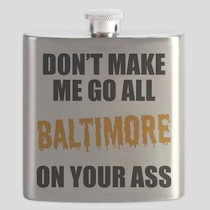Baltimore Baseball Flask