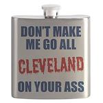 Cleveland Baseball Flask