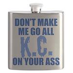 kansascity-baseball-blue-blue Flask
