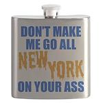 New York Baseball Flask