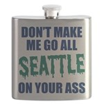 Seattle Baseball Flask