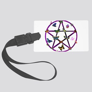 wiccan01 Large Luggage Tag