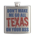 Texas Baseball Flask