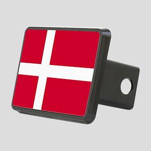 Flag of Denmark Rectangular Hitch Cover
