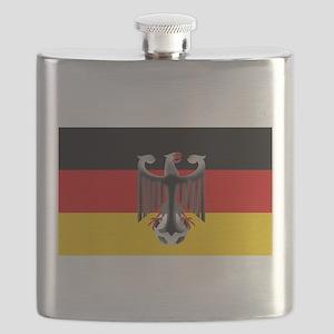 German Soccer Flag Flask
