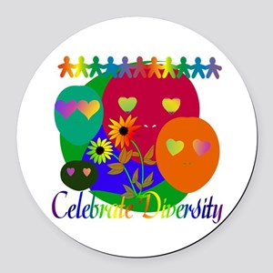 diversity01 Round Car Magnet
