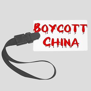 boycott_china01 Large Luggage Tag