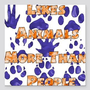 """animal_lover01.png Square Car Magnet 3"""" x 3"""""""