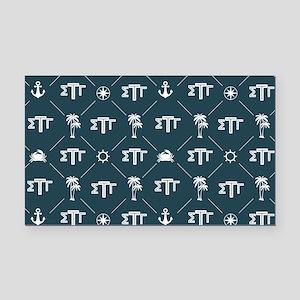 Sigma Tau Gamma Pattern Blue Rectangle Car Magnet