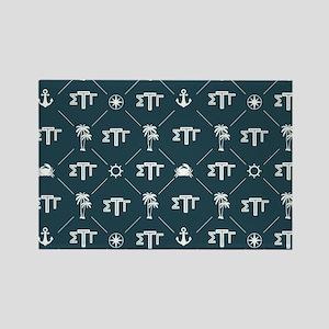 Sigma Tau Gamma Pattern Blue Magnets