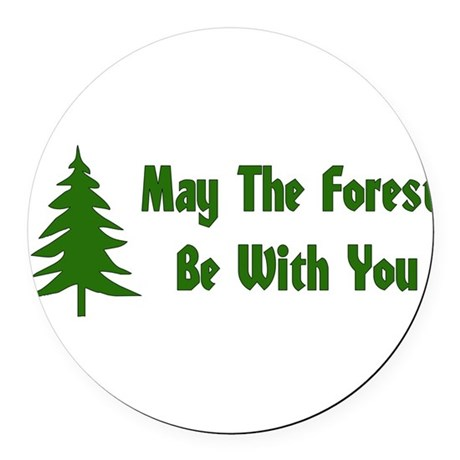 forest01x.png Round Car Magnet