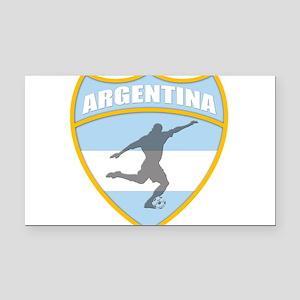 argentina Rectangle Car Magnet