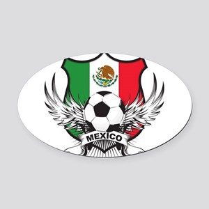 argentina Oval Car Magnet