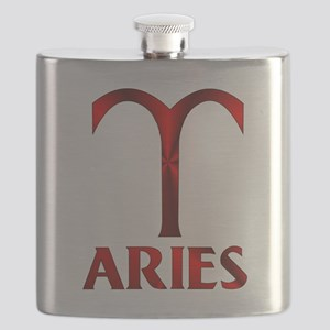 Red Aries Symbol Flask