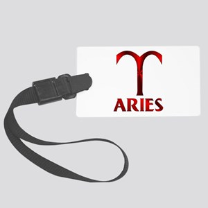 Red Aries Symbol Large Luggage Tag