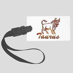 Taurus Zodiac Bull Large Luggage Tag
