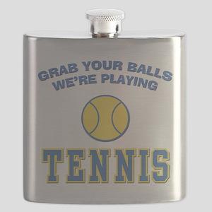 FIN-grab-balls-tennis Flask