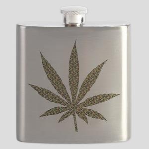Camouflage Weed Leaf Flask
