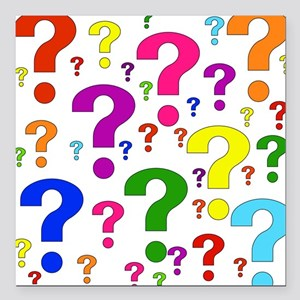 "question01 Square Car Magnet 3"" x 3"""