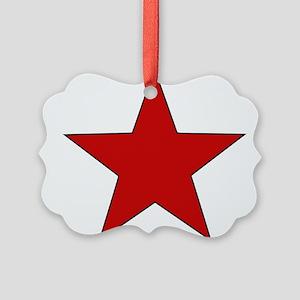 redstar01 Picture Ornament