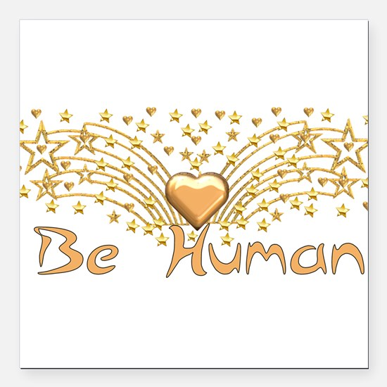 "human01a.png Square Car Magnet 3"" x 3"""